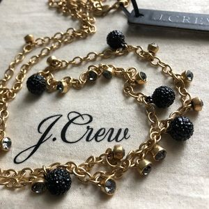 NWT J. Crew Long crystal-and-stone necklace